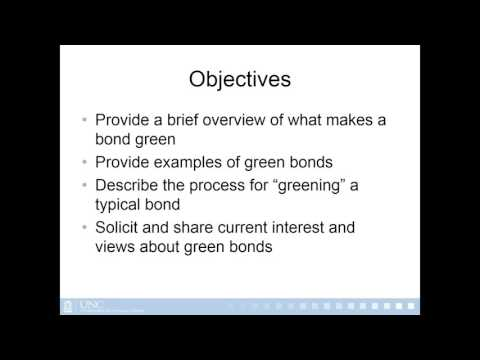 Webinar: Introduction to Green Bonds