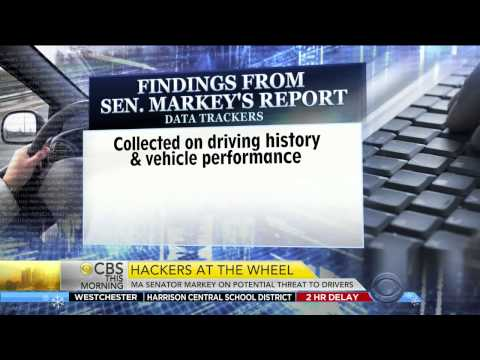 Markey Issues Car Security Report - CBS This Morning Feb. 9. 2015