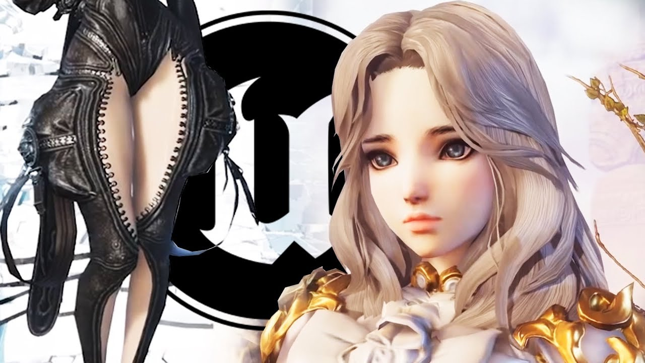 Blade & Soul UE4 Character Creation & Gameplay Reaction w/ Cryy