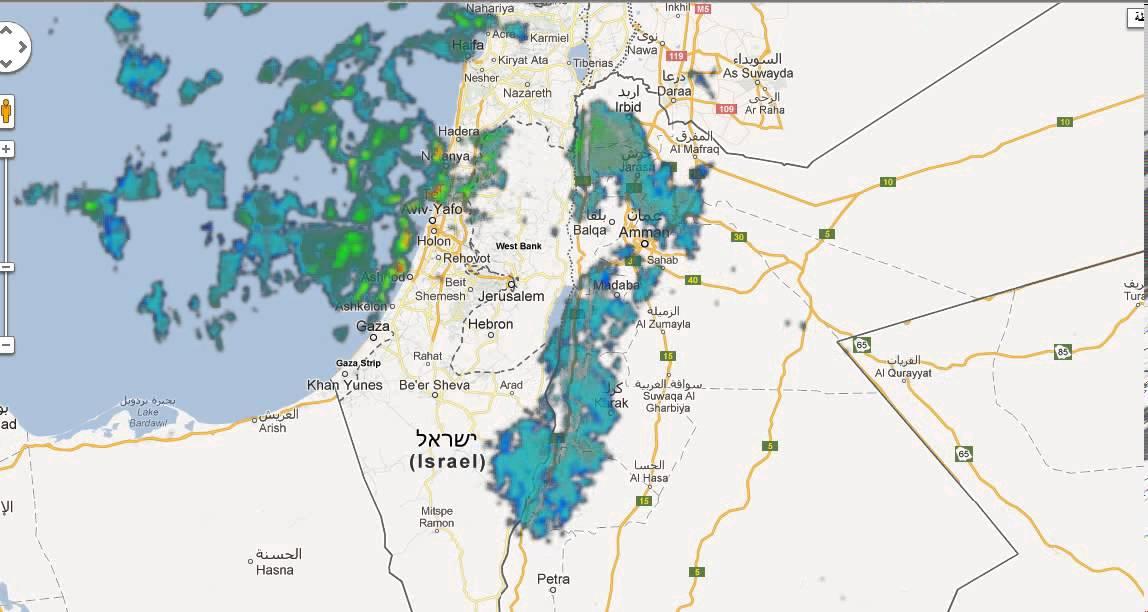 رادار الامطار وحركتها المتوقعه صالح العجلوني Youtube