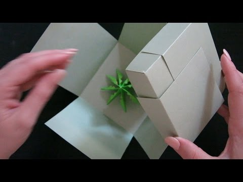 EXPLODING BOX FROM A SINGLE SHEET OF CARDSTOCK