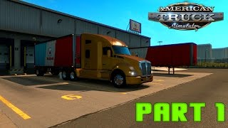 American Truck Simulator Gameplay Part 1 - First Delivery [1080p 60fps]