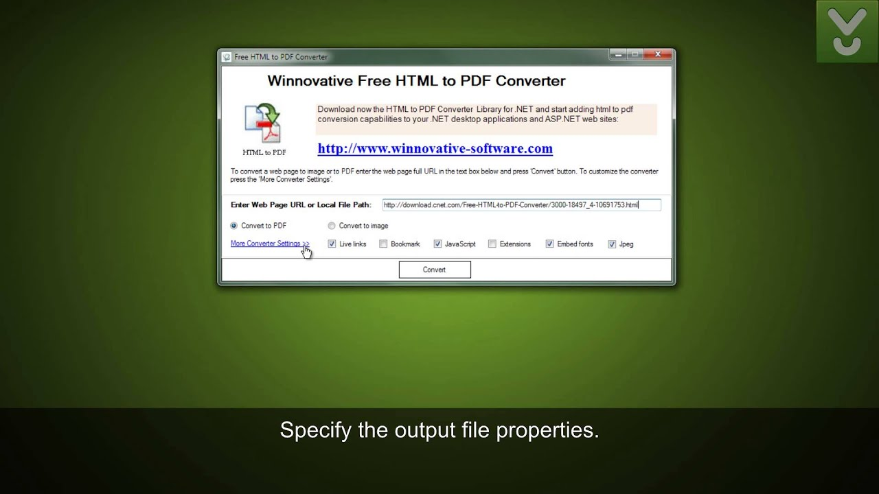 Free HTML to PDF Converter - Convert URLs or HTML files to PDF - Download Video Previews - YouTube