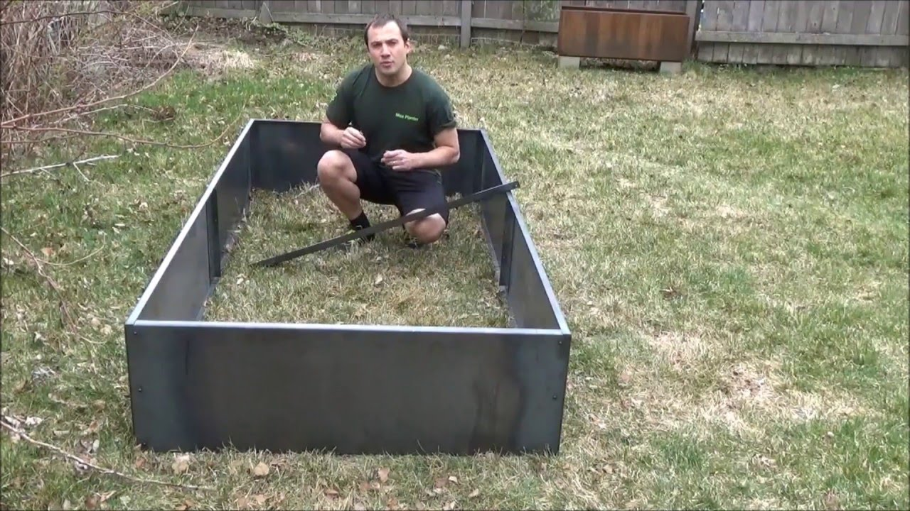 Nicer 96 And 48 Corten Steel Planter Bed Youtube