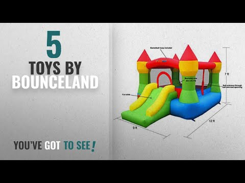 Top 10 Bounceland Toys [2018]: Bounceland Castle W/Hoop Inflatable Bounce House Bouncer