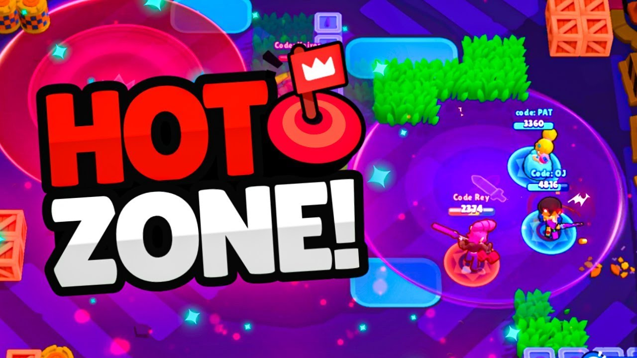 NEW HOT ZONE mode in BRAWL STARS! (new update) - YouTube