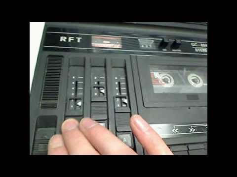 RFT GC-6010 Stereo Cassette-Recorder Made in GDR1981