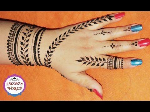 Easy Arabic Back Hand Henna Mehndi Designs by Jyoti Sachdeva .