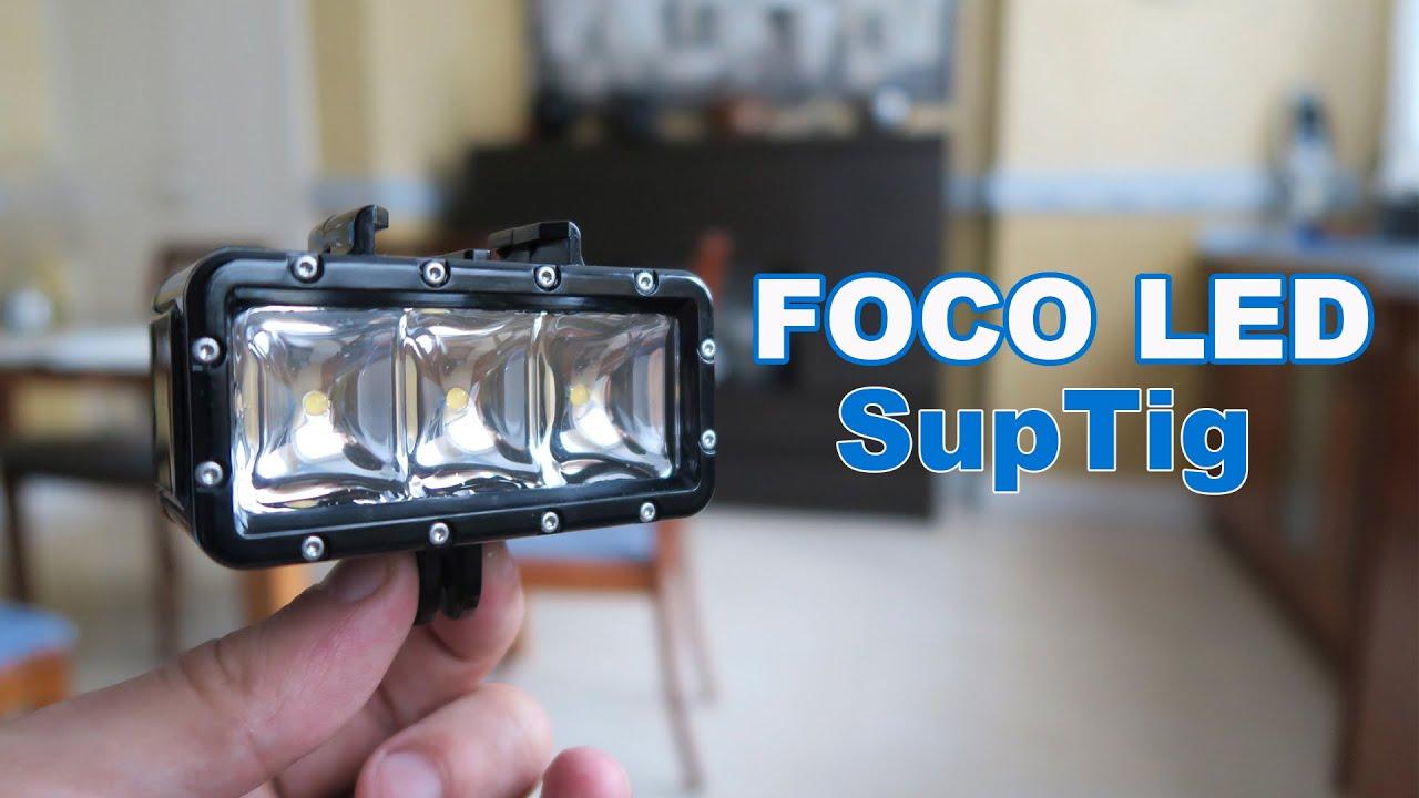 Foco SupTig LED acuático para iluminar tus grabaciones de GoPro ...
