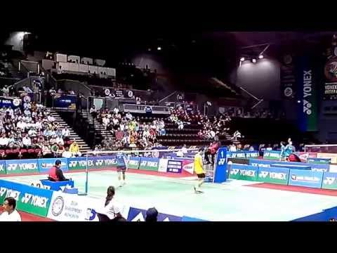 Lee Chong Wei vs P. Kashyap 2/2 | Best Badminton Perfect Angle Match | BWF India Open 2014 MS,QF