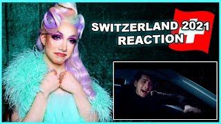 Switzerland   Eurovision 2021 Reaction   Gjon's Tears - Tout l'Univers