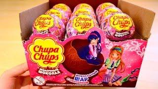 Новая серия Клуб Винкс Winx Club в шоколадных шарах Чупа Чупс на русском языке