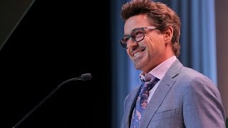 Robert Downey Jr. hilariously introduce Scarlett Johansson at Variety's 10th Power of Women Luncheon