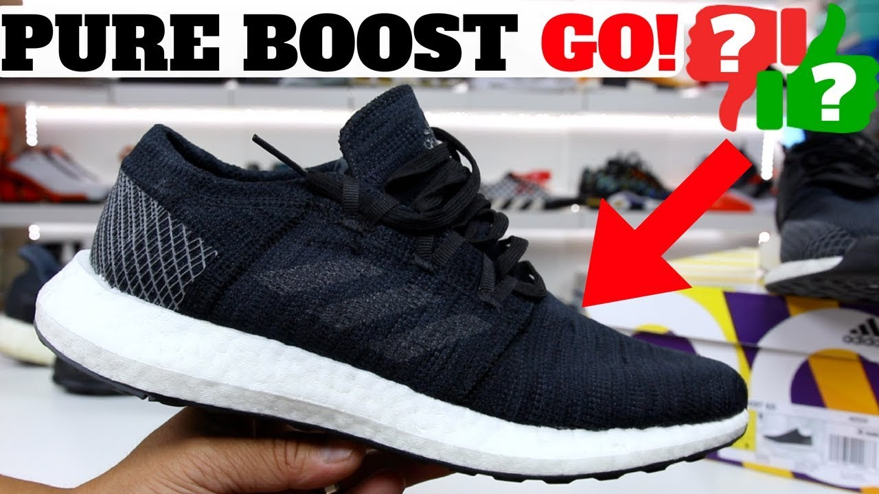 664838fe5dba0 BEST BUDGET BOOST SHOE in 2018 ! adidas PURE BOOST GO Review! - YouTube