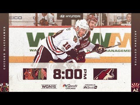 NHL 18 PS4. REGULAR SEASON: Chicago BLACKHAWKS VS Arizona COYOTES. 10.21.2017. (NBCSN) !