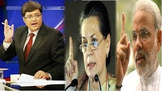 The Newshour  Debate: 2014 now Narendra Modi vs Sonia Gandhi - Full Debate (31st March 2014)