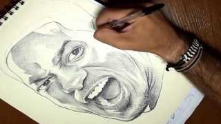 Cómo dibujar a Will Smith en 3 minutos timelapse (How to draw Will Smith in 3 minutes)