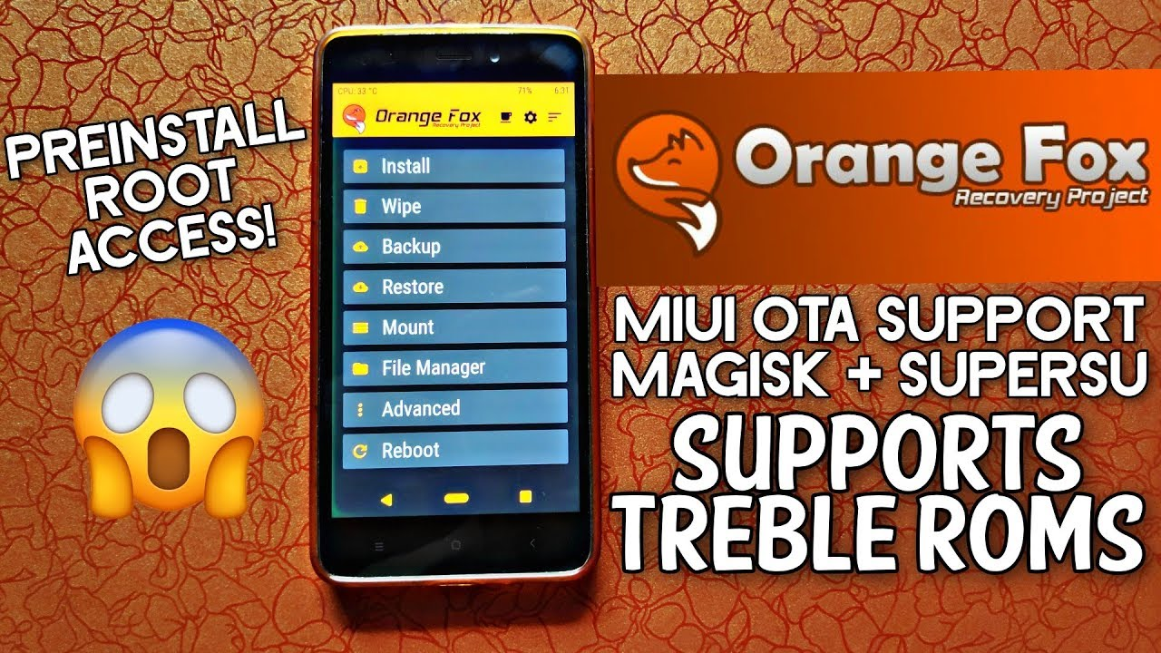 How to Install Custom Recovery With Project TREBLE Support | OrangeFox  Recovery Project by Hindi Tech Video