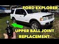 How to Install Upper Ball Joints Only...Without Removing Control Arm. Ford Explorer 2003-05