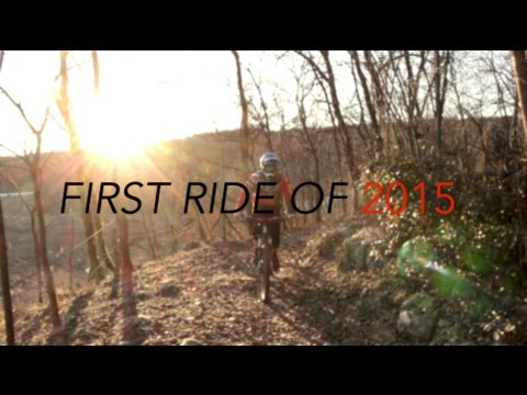 First ride of 2015!  MTB.