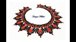 Колье из Бисера Своими Руками! Шикарное Ожерелье из Бисера Мастер Класс/ Beaded necklace!
