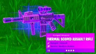 Fortnite Thermal Scoped Assault Rifle Gameplay!