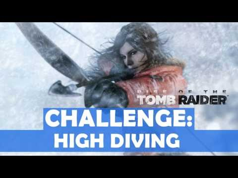 Rise of the Tomb Raider - High Diving Challenge Walkthrough (4 Dives Made)