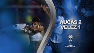 Vélez logró la clasificación en el último minuto ante Aucas
