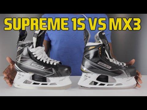 Bauer Supreme 1S Hockey Skate vs MX3 Skates Review