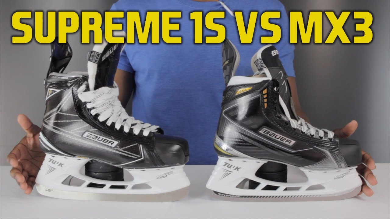 Bauer Supreme 1S Hockey Skate Vs MX3 Skates Review - YouTube