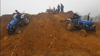 EURO 45, EURO 47,EURO 50 or MAHINDRA 575 stunt krte hue dangrous driver tile se sidha niche tractor