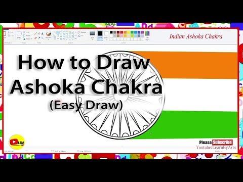 How to Draw Ashoka Chakra India l LearnByArts