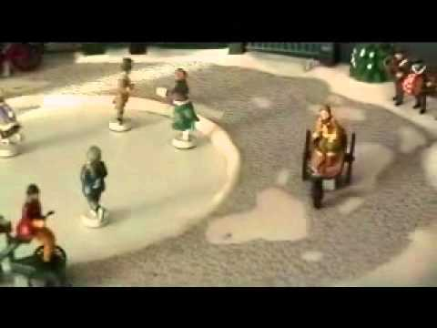 mr christmas musical skating rink holiday decorationwmv youtube - Ice Skate Christmas Decoration