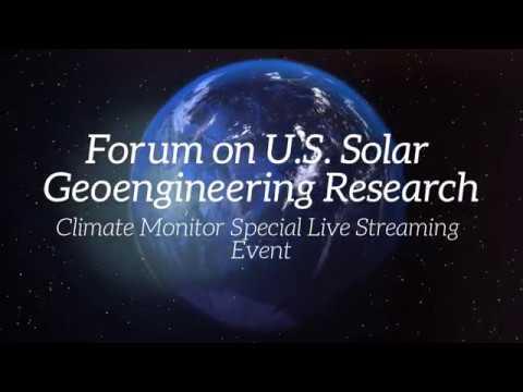 Forum on U S  Solar Geoengineering Research