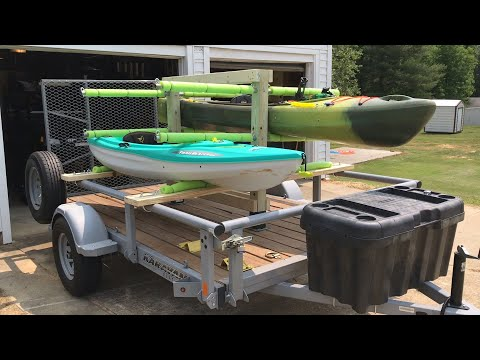 Removable Kayak Rack for a Utility Trailer