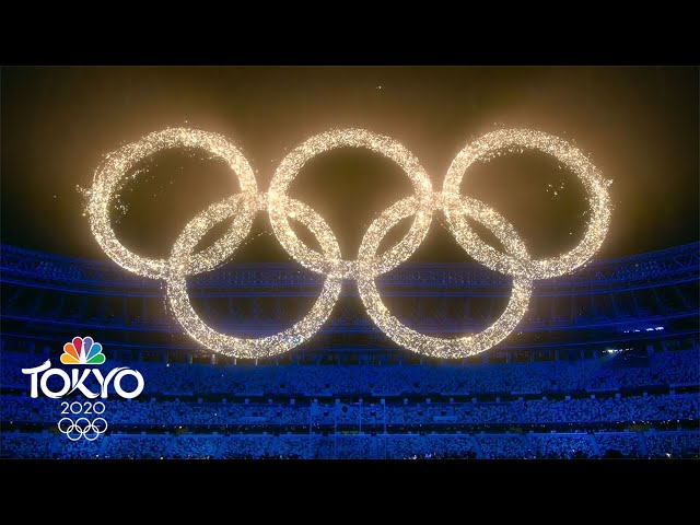 The Olympic Rings blaze to life during the Closing Ceremony | Tokyo Olympics | NBC Sports