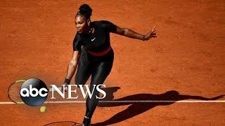 Serena Williams looks and plays like a superhero in Nike catsuit