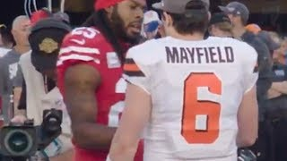 richard-sherman-blasts-baker-mayfield-for-not-shaking-his-hand-says-mayfield-needs-to-grow-up