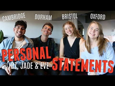 HOW TO WRITE A PERSONAL STATEMENT FOR A TOP UNIVERSITY! (w/ UnJaded Jade, Ibz Mo + Eve Bennett)