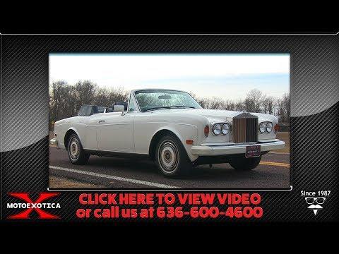 1985 Rolls-Royce Corniche Convertible  For Sale