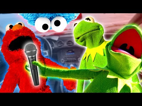 Elmo Kermit The Frog And Kermit's Brother Do Car Karaoke!