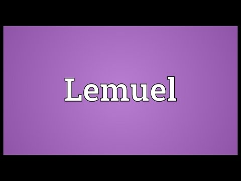 Lemuel Meaning