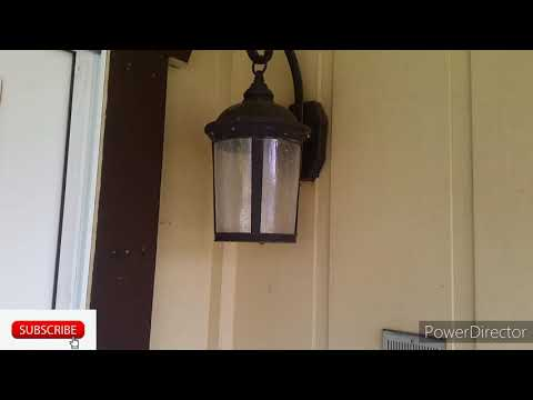 how to repair outdoor wall light