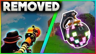 5 Things That Have Been REMOVED From Fortnite Battle Royale! | Boogie Bomb, Zapatron, Skins & More!