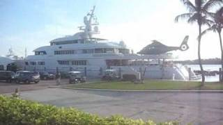 Mega Yacht with Helicopter landing
