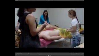 Обучение массажу  Серия 06  Массаж спины  Поглаживание и лимфодренаж
