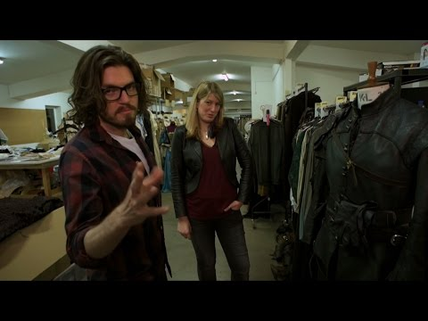 Costume tour with Tom Burke (Athos) - The Musketeers: Series 3 - BBC One