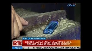 UB: Lighter na may laman umanong shabu, nakuha mula sa isang drug suspect