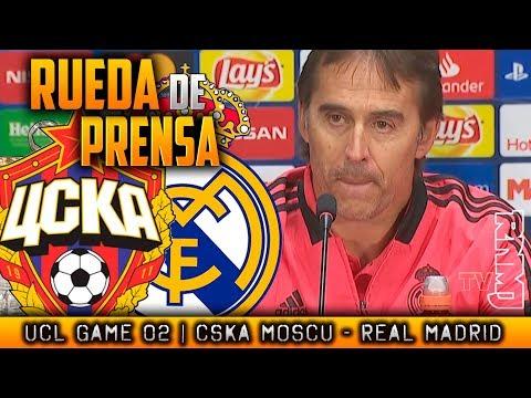 Rueda de prensa de LOPETEGUI : CSKA Moscu - Real Madrid