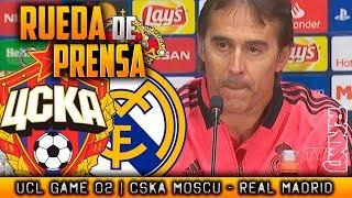 CSKA Moscu - Real Madrid Rueda de prensa de LOPETEGUI Champions (01/10/2018)